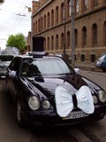 Carro Wedding decorado imagens de stock royalty free