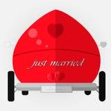 Carro Wedding decorado Fotografia de Stock Royalty Free