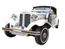 Carro wedding isolado imagens de stock royalty free