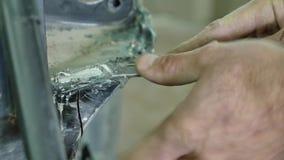 Carrocería auto de la reparación del mecánico de la serie de la reparación del cuerpo metrajes