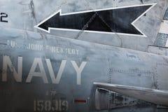 Carrocería de los aviones militares - detalle Imagen de archivo