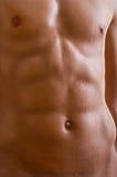 Carrocería masculina descubierta del vientre Fotografía de archivo libre de regalías