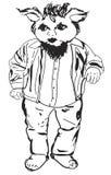Carrocería completa del gnomo con la barba, chaqueta, pantalones, camisa Foto de archivo libre de regalías