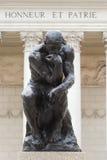 Carrocería completa del pensador de Rodin Fotos de archivo libres de regalías