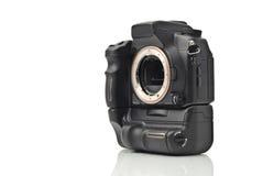 Carrocería de cámara de DSLR sin las lentes aisladas Imágenes de archivo libres de regalías