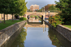 Carroll Creek Downtown Frederick Maryland-M.D. Royalty-vrije Stock Afbeelding