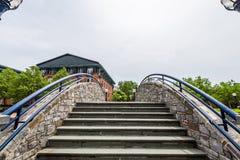 Carroll Creek Promenade Park en Federick, Maryland Fotos de archivo libres de regalías