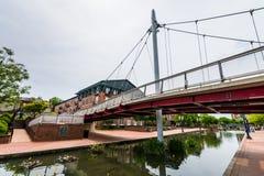 Carroll Creek Promenade Park en Federick, Maryland Fotos de archivo