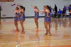 Carroll universitetarNCAA dansar laget Royaltyfri Bild