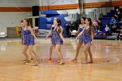 Carroll University Pom Dancing Team Arkivbild