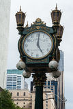 Carrolls Juwelier-Uhr in Seattle, WA Lizenzfreie Stockfotografie