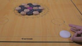Carrom-Brett stock video footage