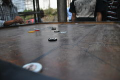 Carrom table game board from Asia Royalty Free Stock Photography