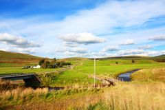 Carron Tal, Campsie Hügel, Schottland Lizenzfreies Stockbild