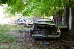 Carros abandonados Fotos de Stock