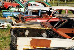 Carros abandonados velhos Foto de Stock Royalty Free