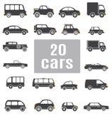 Carros. Ajuste ícones Foto de Stock Royalty Free