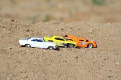 Carros alinhados Imagens de Stock Royalty Free