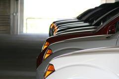 Carros alinhados Foto de Stock