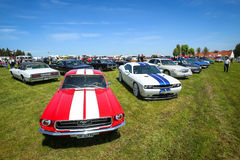 Carros americanos Fotografia de Stock Royalty Free