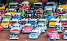 Carros americanos clássicos do oldtimer como brinquedos Fotografia de Stock Royalty Free