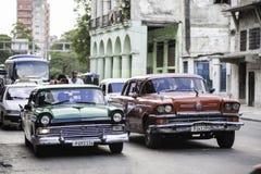 Carros americanos clássicos velhos Foto de Stock Royalty Free