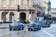 Carros americanos clássicos velhos Imagem de Stock Royalty Free