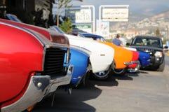 Carros americanos do músculo foto de stock