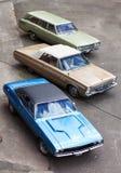 Carros americanos do músculo do vintage Foto de Stock