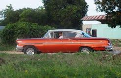 Carros americanos velhos em Cuba Imagens de Stock