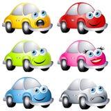 Carros Assorted do estilo do erro dos desenhos animados Fotografia de Stock Royalty Free