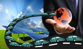 Carros bondes com energia solar Imagens de Stock