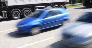 Carros borrados Imagem de Stock