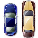 Carros britânicos luxuosos do vetor. Fotos de Stock
