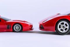 Carros cara a cara Imagens de Stock