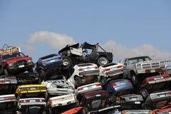 Carros causados um crash mim Imagem de Stock Royalty Free
