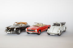 3 carros clássicos alemães Foto de Stock Royalty Free