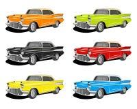 Carros clássicos coloridos Imagem de Stock Royalty Free