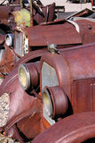 Carros clássicos oxidados fotos de stock