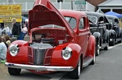 Carros clássicos restaurados Fotografia de Stock Royalty Free