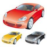 Carros coloridos Imagem de Stock Royalty Free
