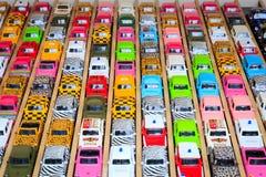 Carros coloridos do brinquedo Fotografia de Stock