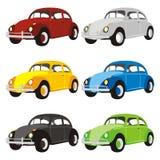 carros coloridos engraçados Fotografia de Stock