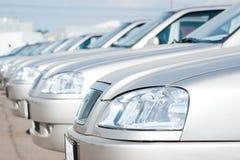 Carros compactos novos fotografia de stock royalty free