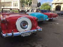 Carros cubanos Fotografia de Stock Royalty Free