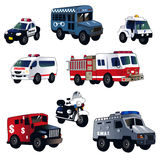 Carros da aplicação da lei dos desenhos animados Fotos de Stock