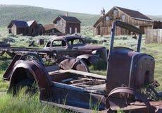 Carros da cidade fantasma Fotografia de Stock