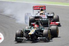 Carros da fórmula 1 Fotografia de Stock