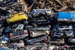 Carros da sucata Fotos de Stock