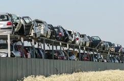 Carros danificados Imagem de Stock